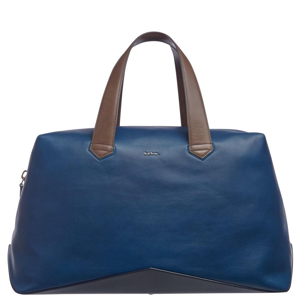 Paul Smith Accessories Men s Leather Holdall Bag - Petrol Blue ... 87ca63fd0c1c3