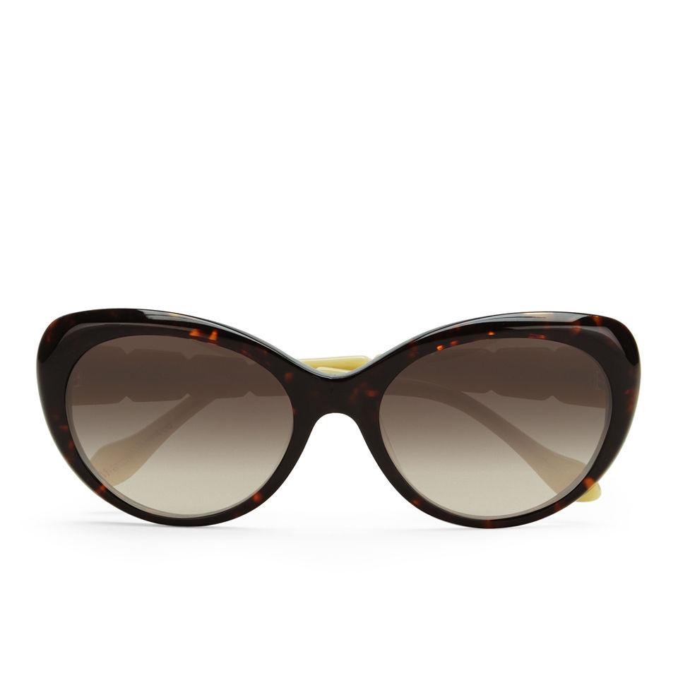 eedb9d8fa7 Vivienne Westwood Swarovski Temple Logo Sunglasses - Havana - Free UK  Delivery over £50