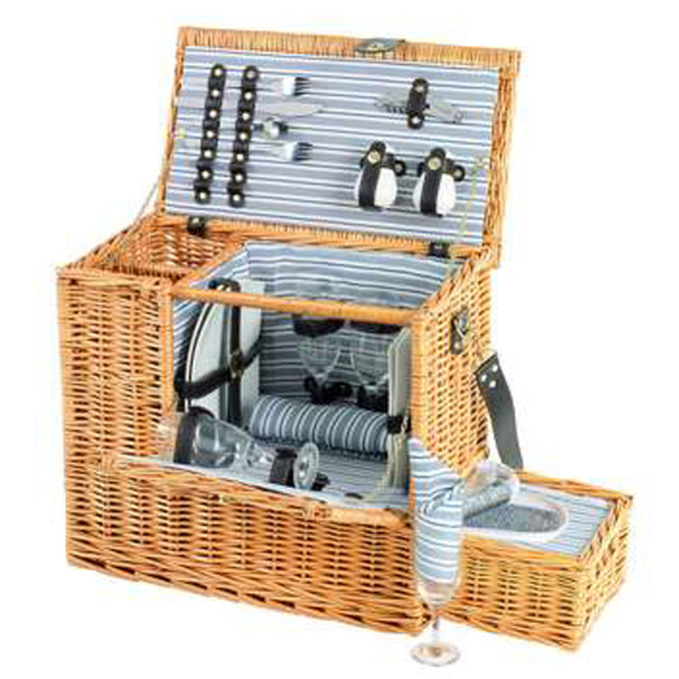 Picnic Basket Items : Sandringham person picnic hamper with cooler tray iwoot