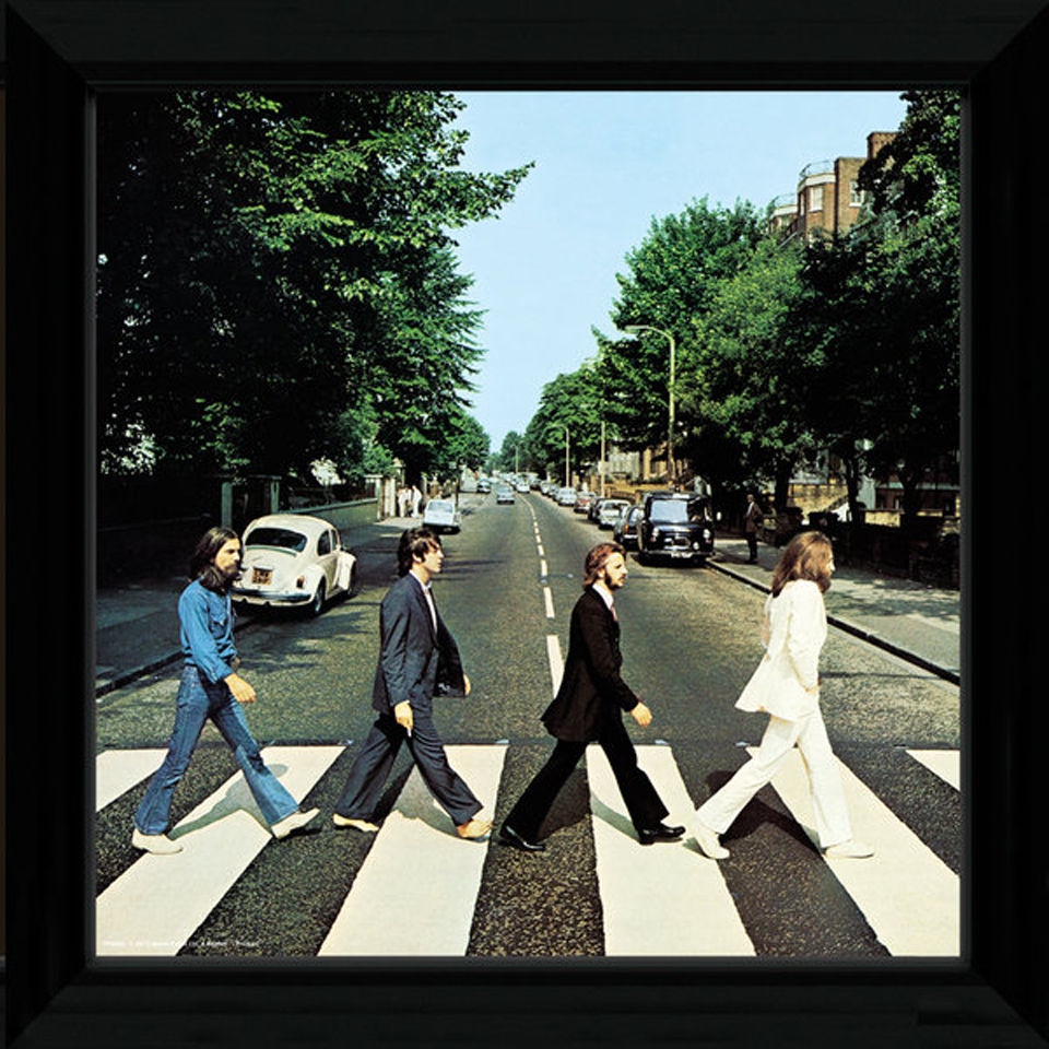 "The Beatles Abbey Road - 12"""" x 12"""" Framed Album Prints"