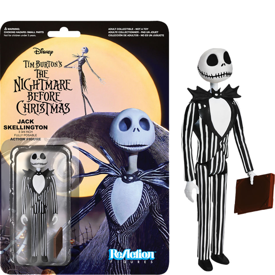 "ReAction The Nightmare Before Christmas - Jack Skellington - 3 3/4"""" Action Figure"