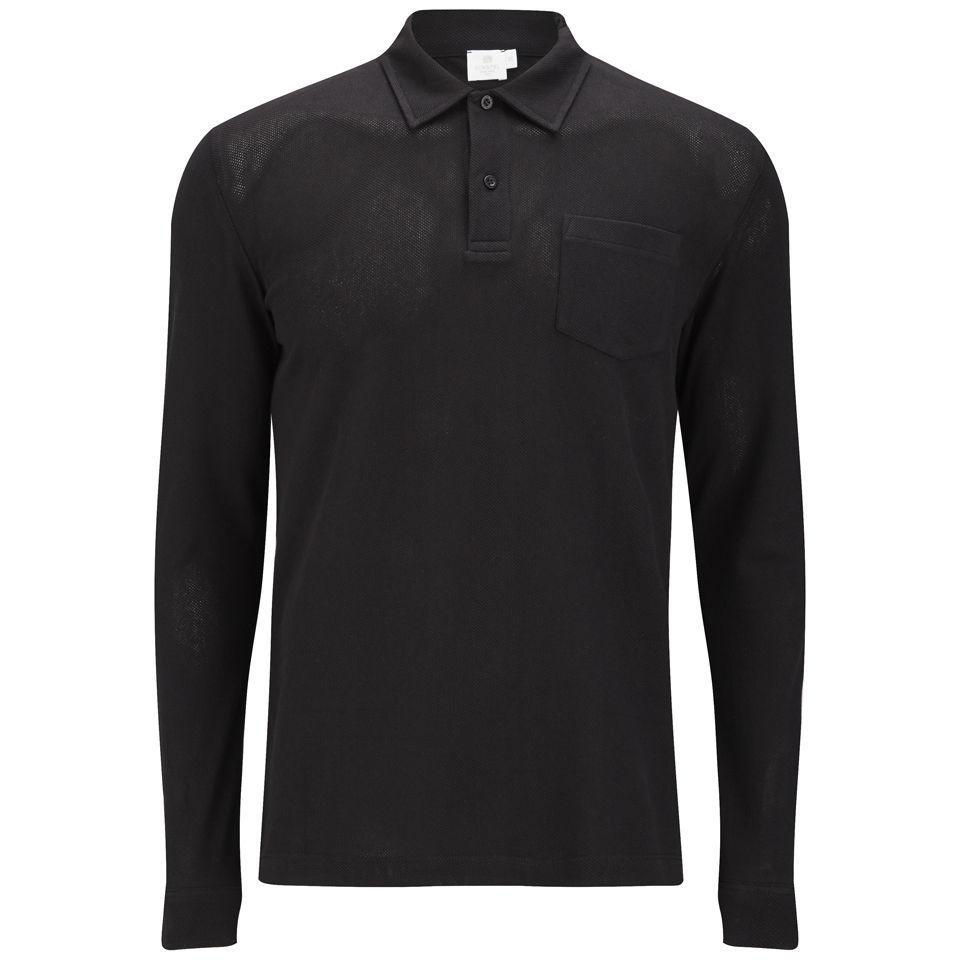 218feab1ca65 Sunspel Men's Long Sleeve Riviera Polo Shirt - Black - Free UK ...