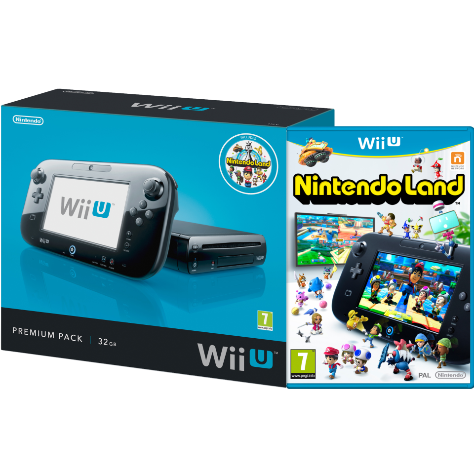 Wii U Console 32gb Nintendo Land Premium Pack Black Games Switch Lego Ninjago Movie Video Game English Pal Consoles Zavvi