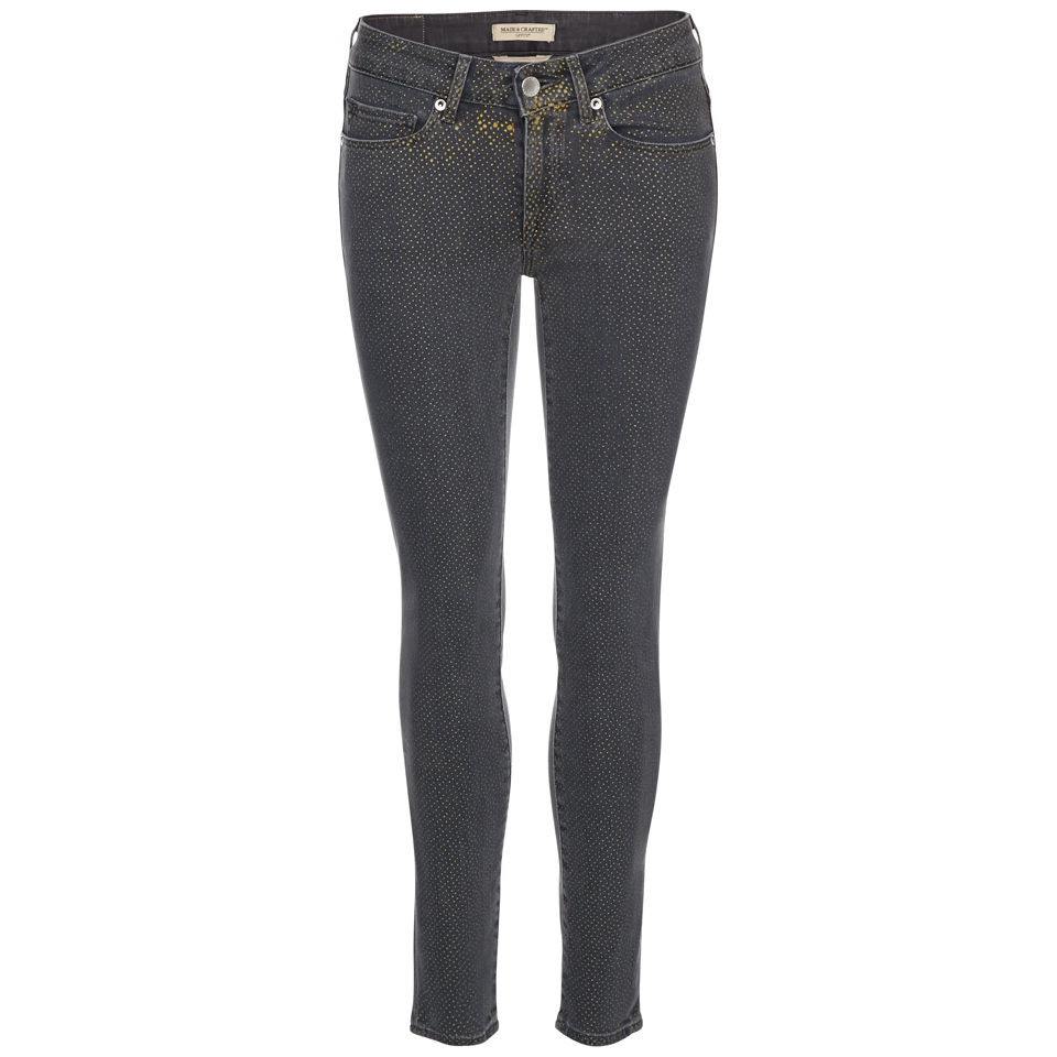 d59896b6d24b3a Levi's Made & Crafted Women's Empire Cropped Mid Rise Skinny Jeans -  Black/Gold Dots - Free UK Delivery over £50