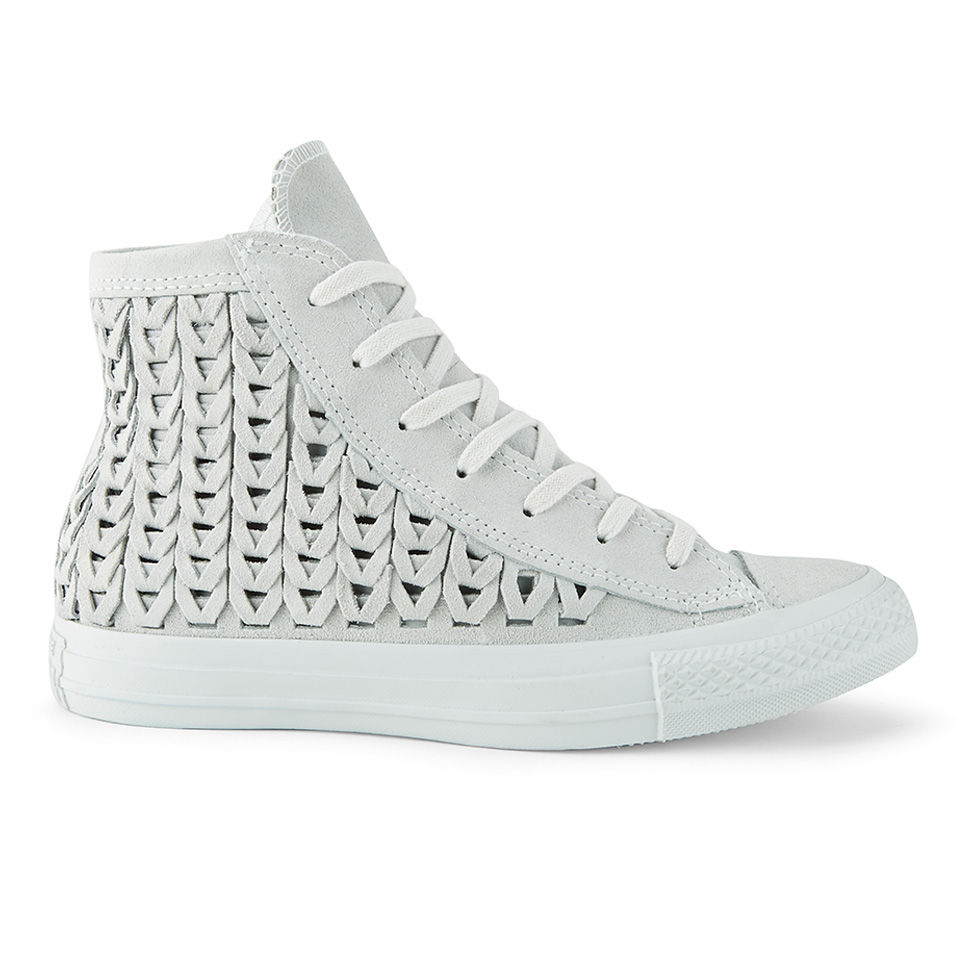 422bf16617e2 ... Converse Women s Chuck Taylor All Star Woven Suede Hi-Top Trainers -  Powder