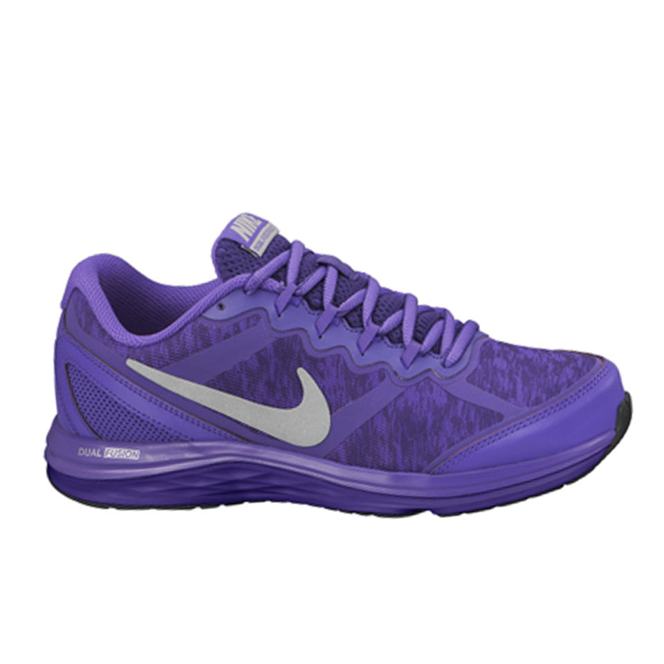 Nike Women's Dual Fusion Run 3 Flash Dynamic Support Running Shoes Court PurpleSilver