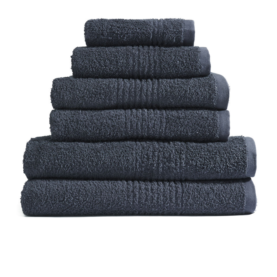 Highams 100% Egyptian Cotton 6 Piece Towel Bale (550gsm) - Charcoal