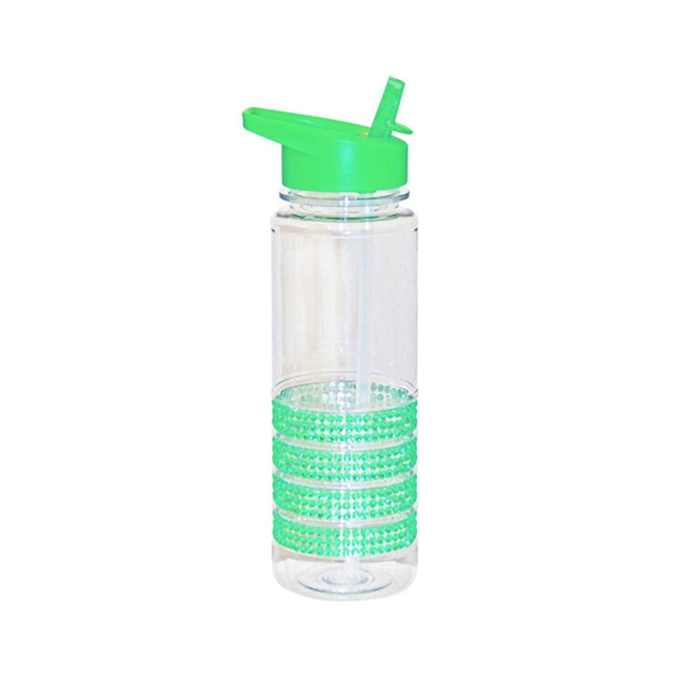 Water Bottle For Office: Green Jewelled Water Bottle