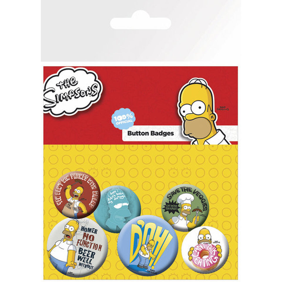 Lot de Badges Les Simpsons - Famille