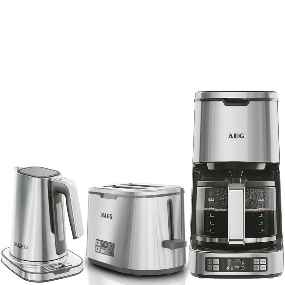 AEG Series 7 Toaster, Kettle and Coffee Machine Bundle - Stainless Steel