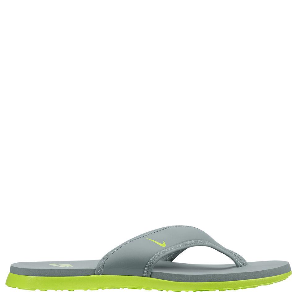 949aa2e0b Nike Men s Celso Thong Plus Flip Flops - Grey Green Sports   Leisure ...
