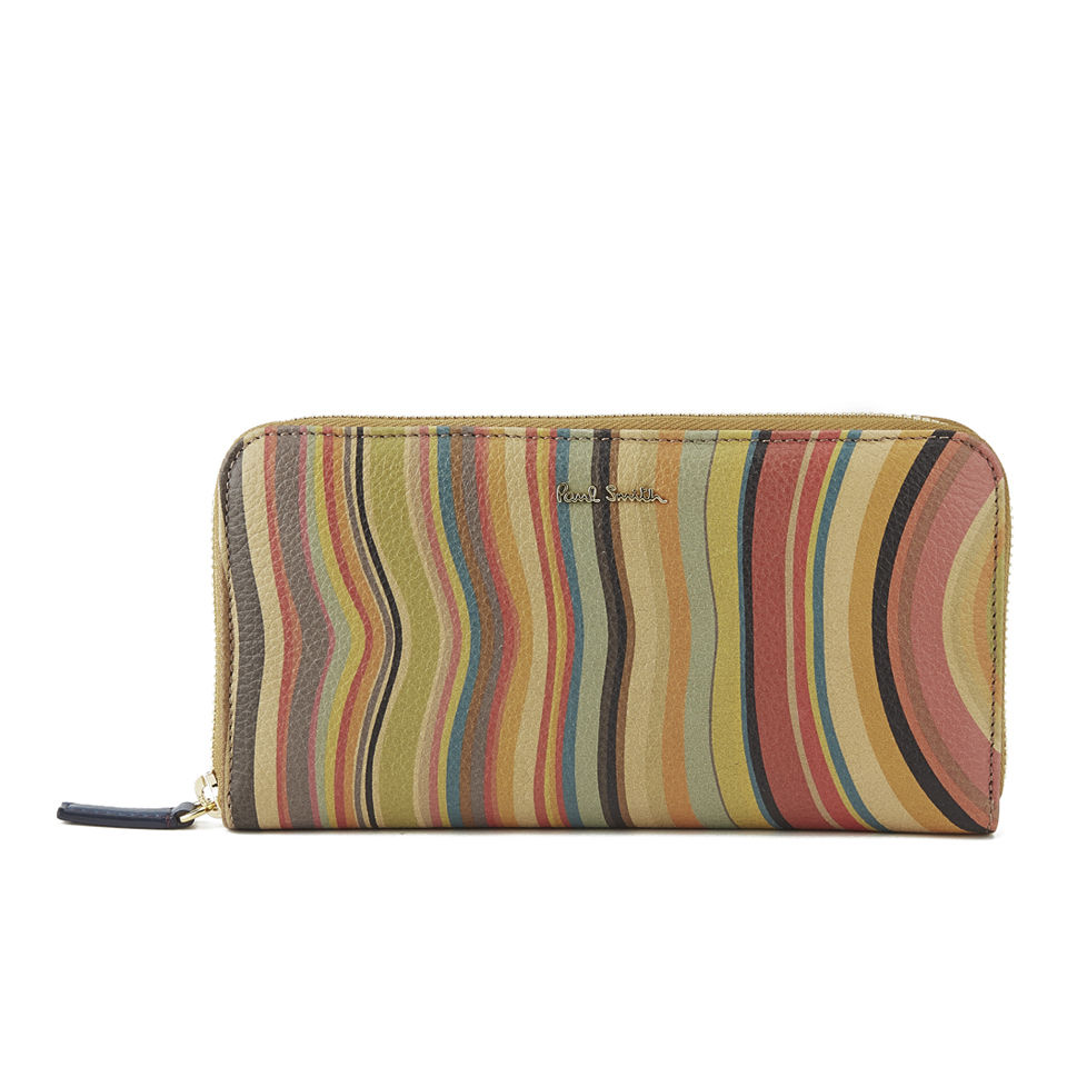 036caf91f216 Paul Smith Accessories Women's Large Zip Around Purse - Swirl - Free ...