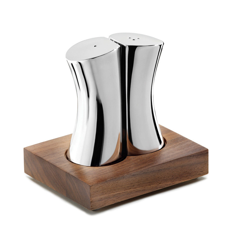 Robert Welch Rushan Salt and Pepper Shakers - Walnut Base