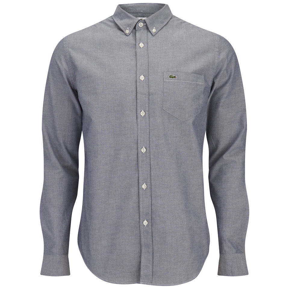 8f78f73e8f Lacoste Men's Long Sleeve Oxford Shirt - Naval Blue