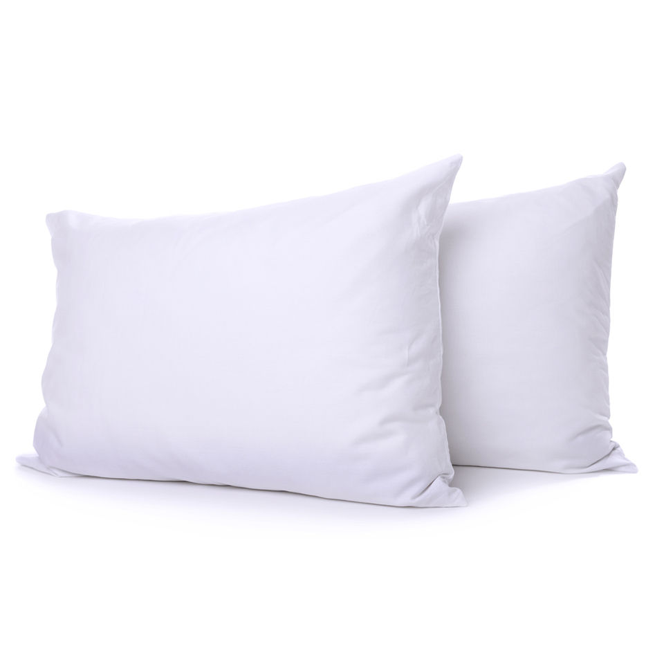 Restmor Microfibre Covered Hollowfibre Filled Pillow Pair Tog - White