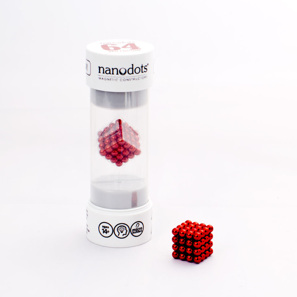 Nanodots Magnetic Constructors Red - 64 Dots | IWOOT