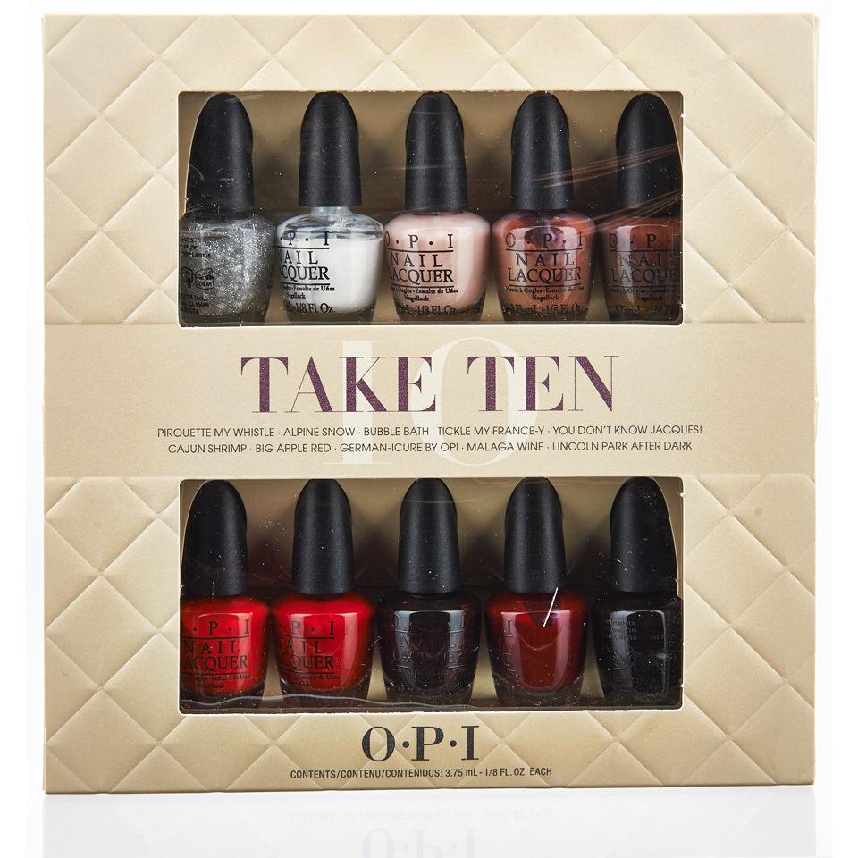Opi Powder Nail Polish Kit: OPI Take Ten Mini Kit (10 Products)