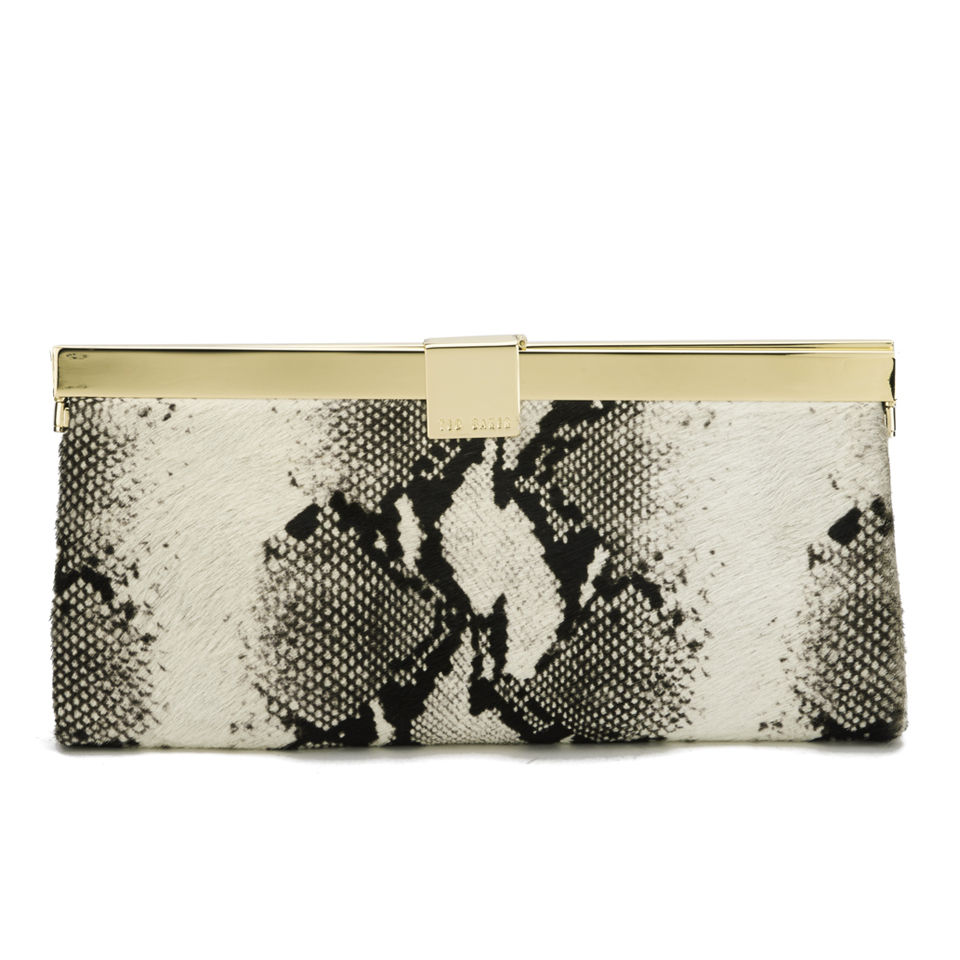 be9707d1eb000 Ted Baker Women's Kamilla Square Clasp Exotic Clutch Bag - Black