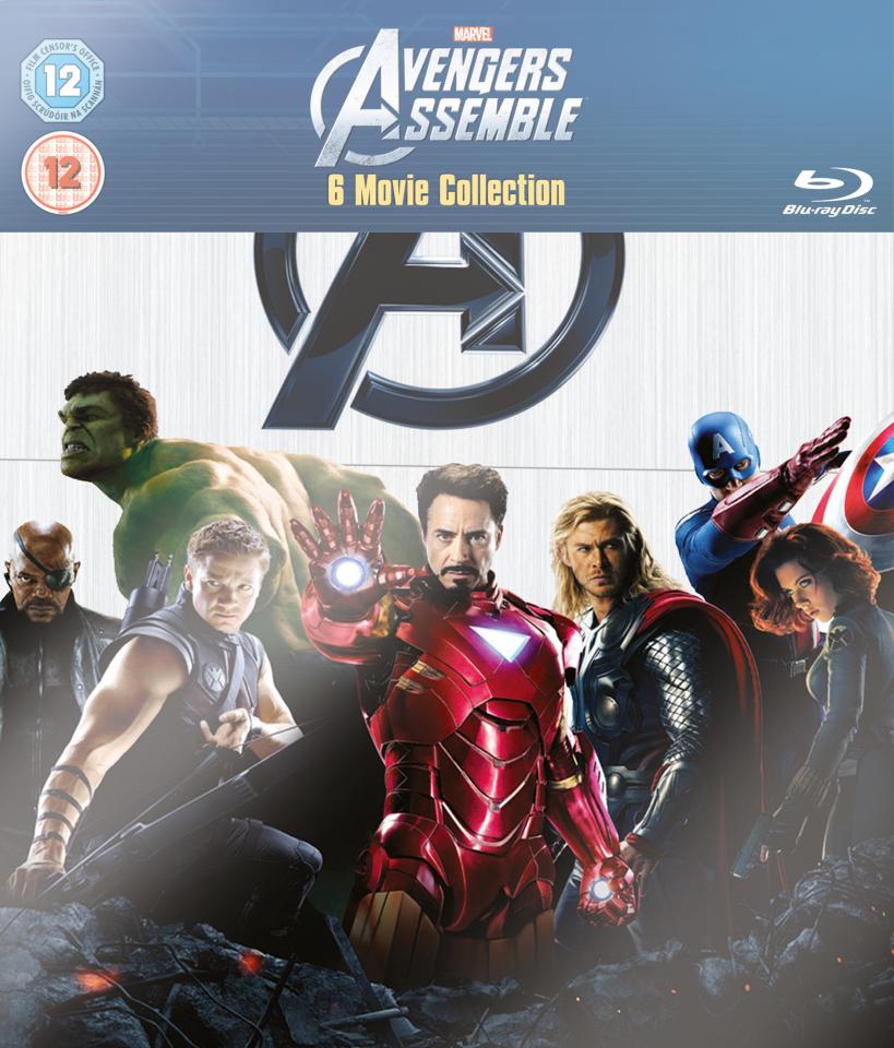 marvel avengers assemble 6 movie collection bluray zavvi