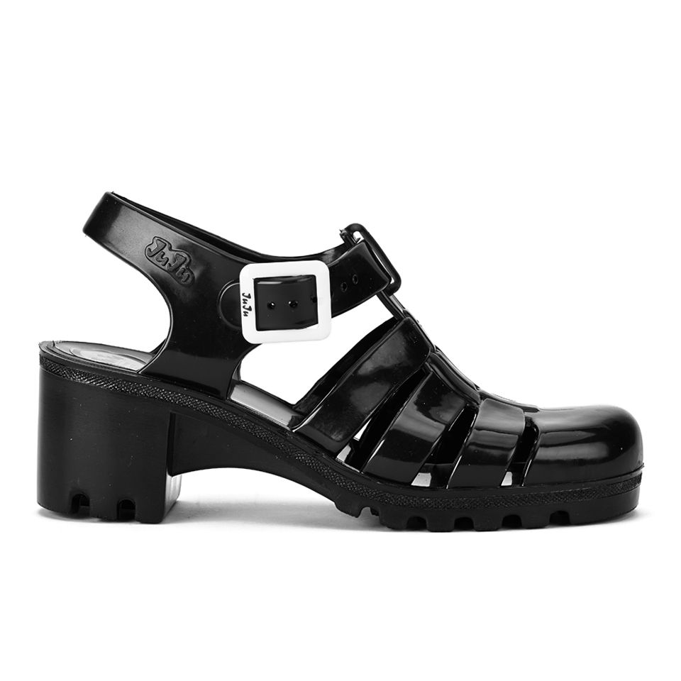 9cbbe521aed6 JuJu Women s Babe Heeled Jelly Sandals - Black - Free UK Delivery ...