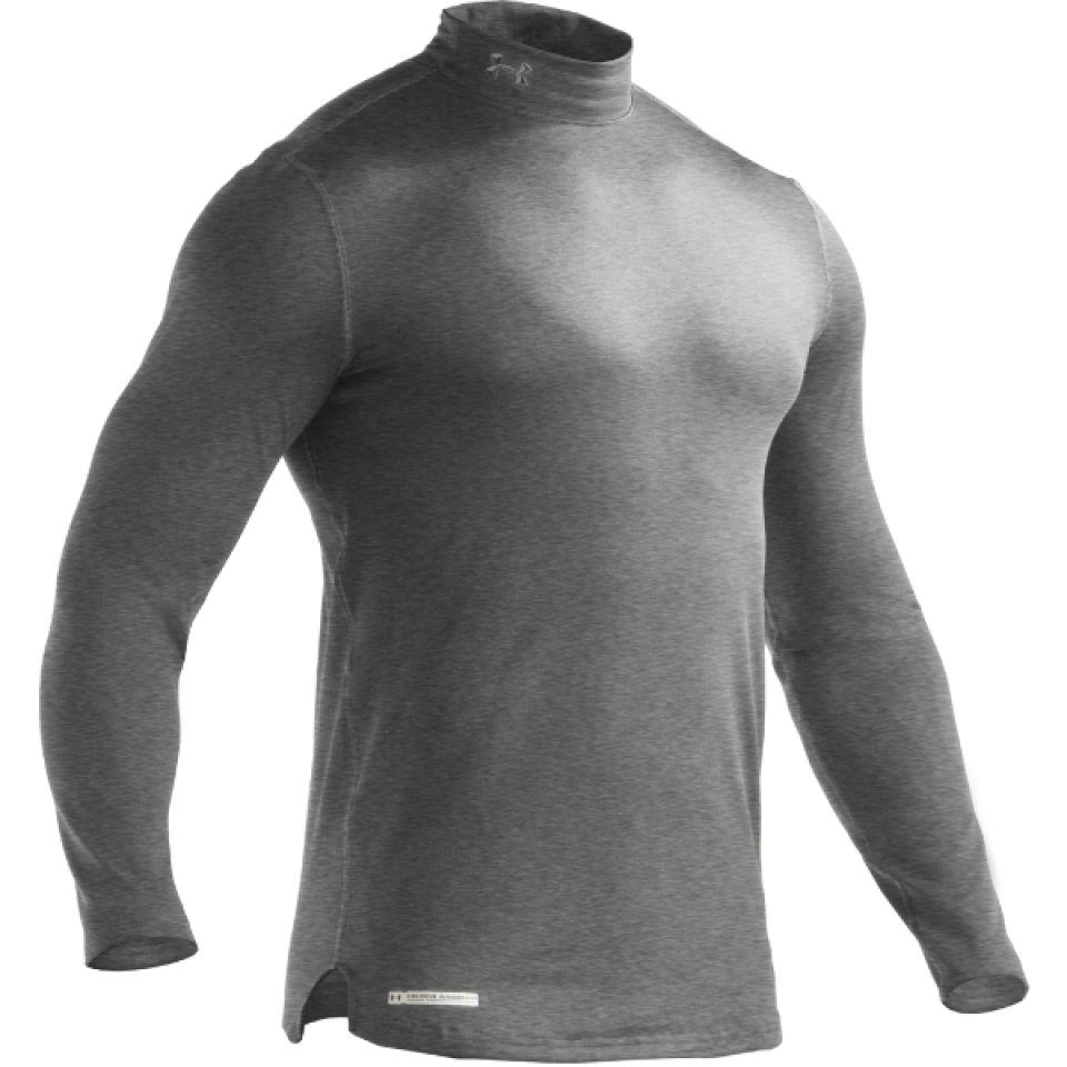 najlepsze buty autentyczny najniższa cena Under Armour Men's Evo Coldgear Fitted Mock Compression Long Sleeve Top -  True Grey/Heather/Metal