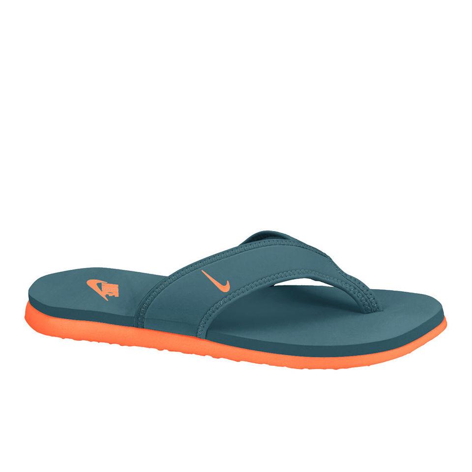 Nike Men's Celso Thong Plus Flip Flops - Green/Orange