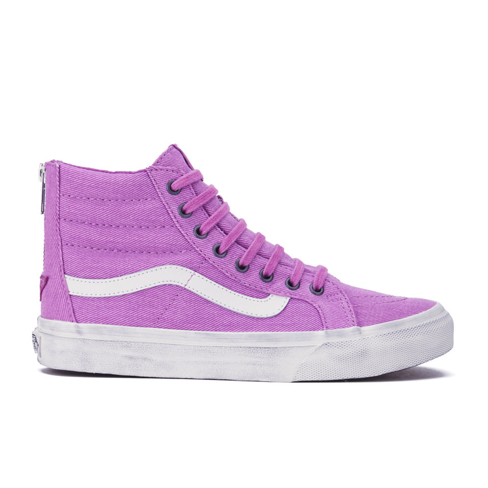 e7b13c4e4e ... Vans Women s SK8-Hi Slim Zip Overwashed Hi-Top Trainers - Radiant Orchid