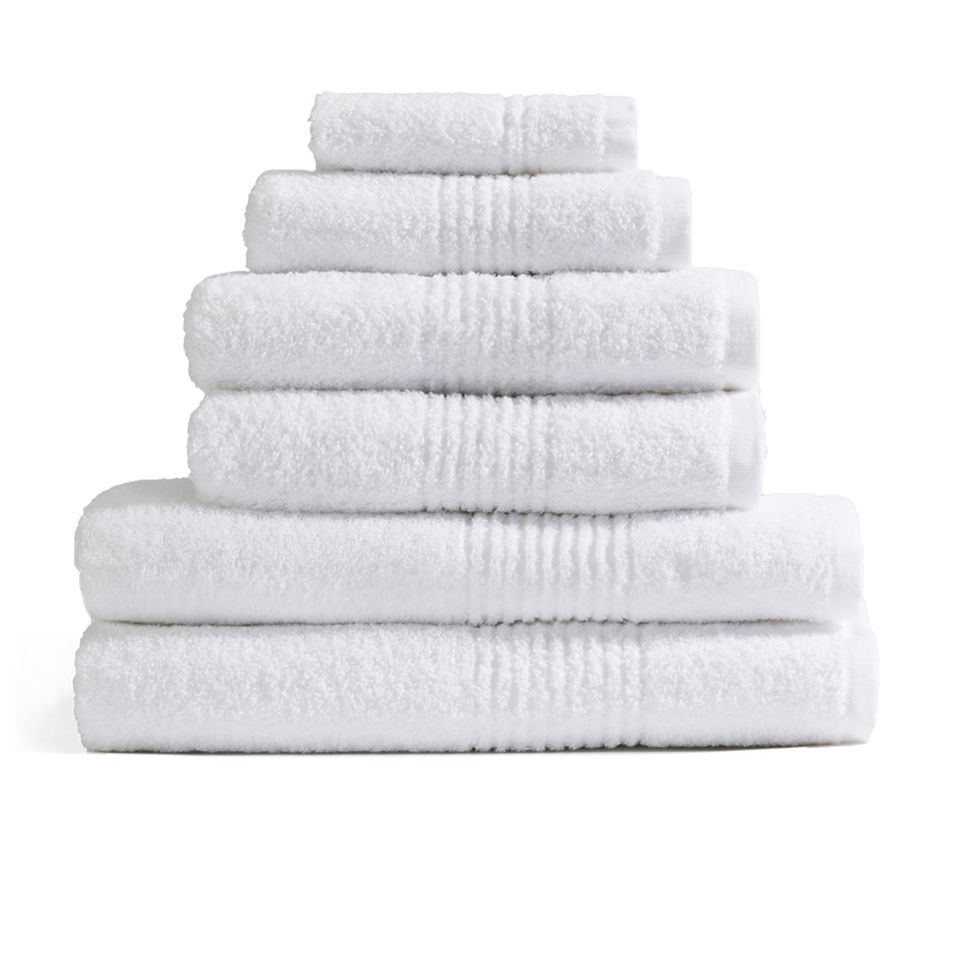 Highams 100% Egyptian Cotton 6 Piece Towel Bale (550gsm) - White