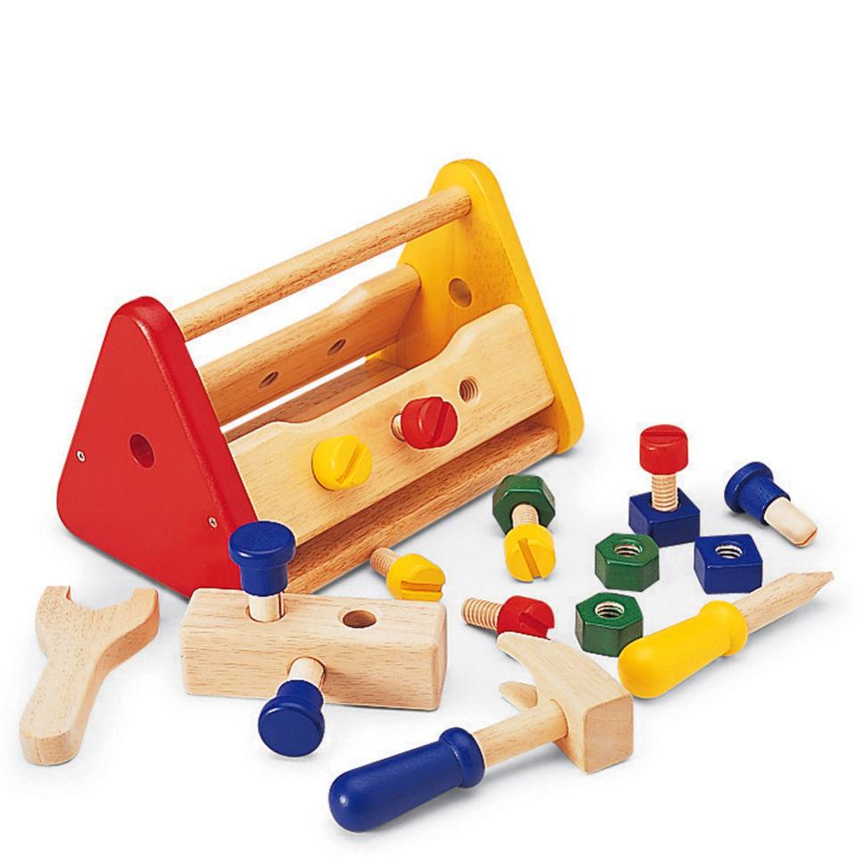 Pintoy Wooden Tool Box Toys Thehut Com