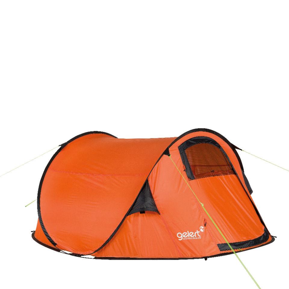 sports shoes 3dd49 c7ef4 Gelert Quickpitch DLX Tent - Red Orange