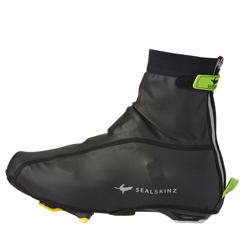 SealSkinz Lightweight Overshoes - Black/Green