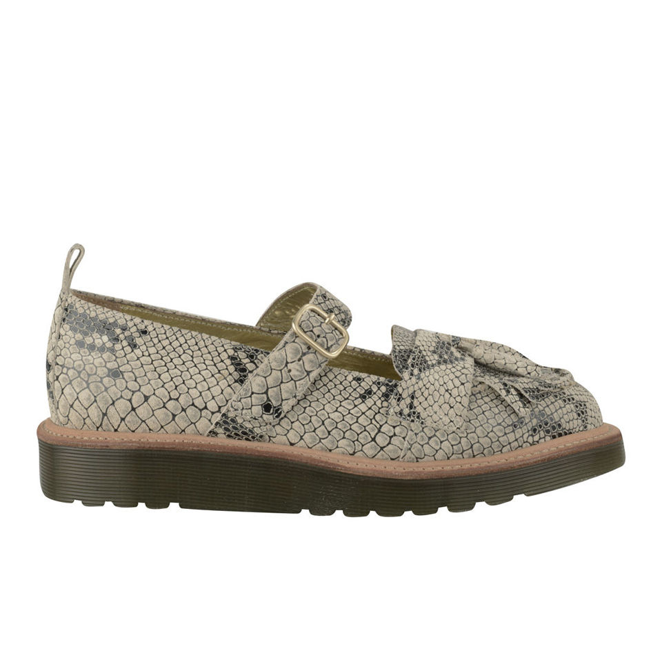 64bf5ac2ba8 ... Dr. Martens Made in England Women s Abril Python Leather Mary Jane  Shoes - Cream