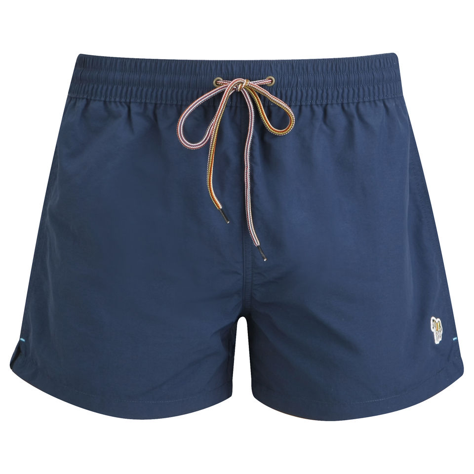 0171796444 Paul Smith Accessories Men's Basic Swim Shorts - Navy/Zebra - Free UK  Delivery over £50