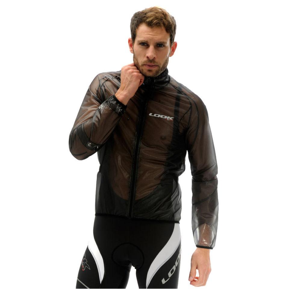 Look Men S Light Rain Jacket Translucent Black