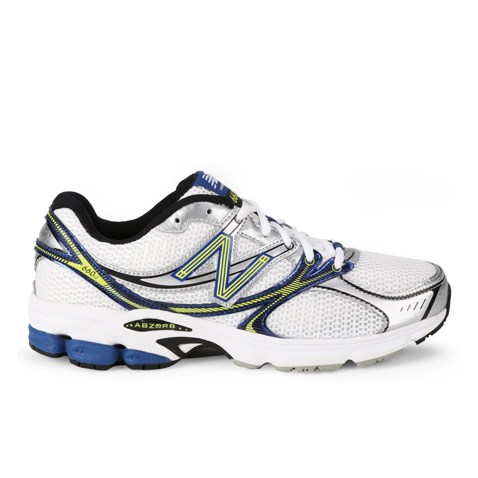 newest 0a2e7 2bef7 New Balance Men's M660 v2 Stability Running Trainer - White/Blue