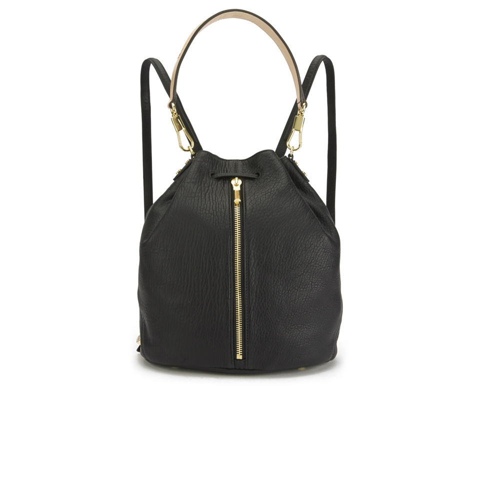 e48183d9df ... Elizabeth and James Women s Cynnie Sling Leather Bucket Bag - Black  Natural