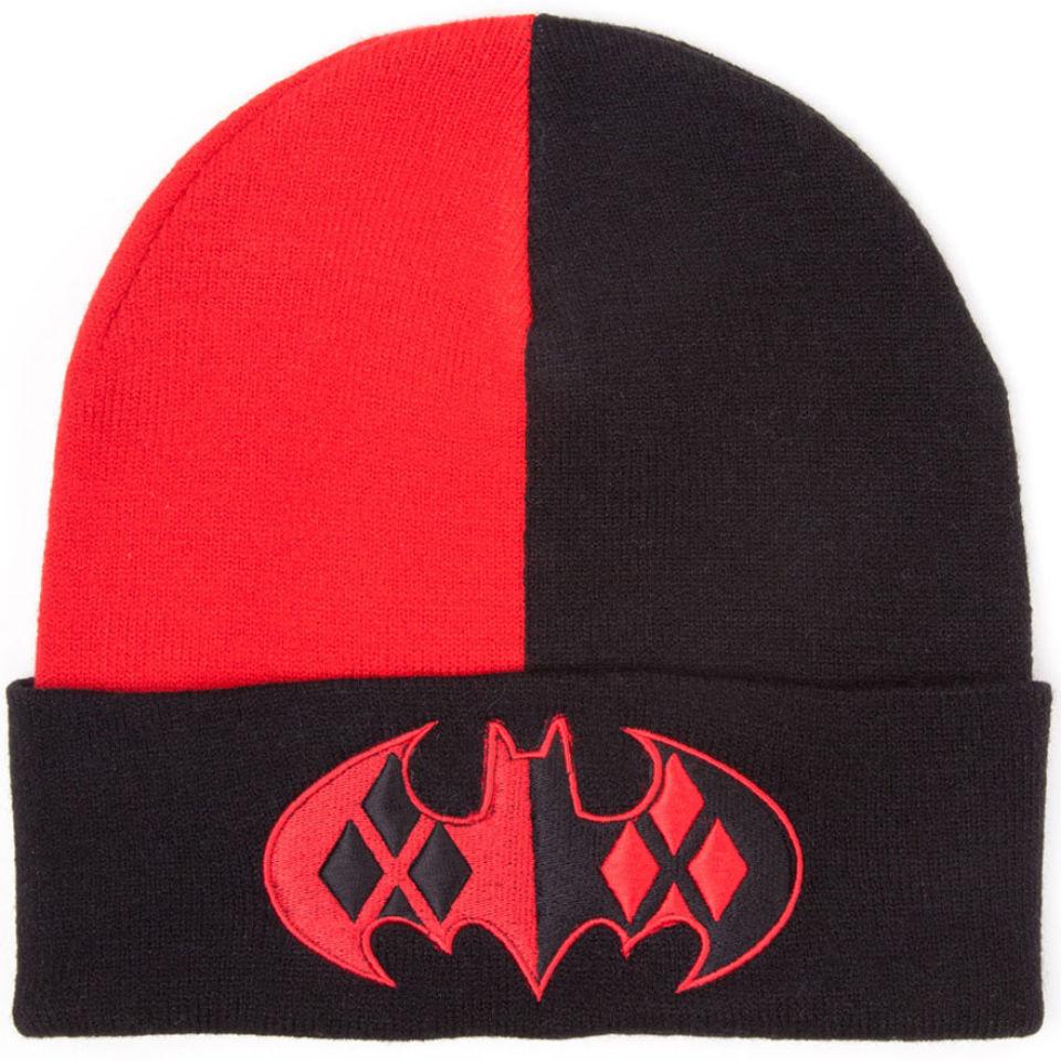 790fe38b41b DC Comics Batman Harley Quinn Beanie Hat with Logo Merchandise