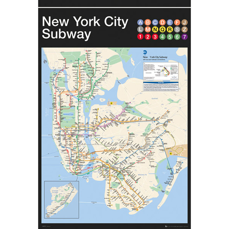 New York Subway Map For Sale.New York Subway Map Maxi Poster 61 X 91 5cm