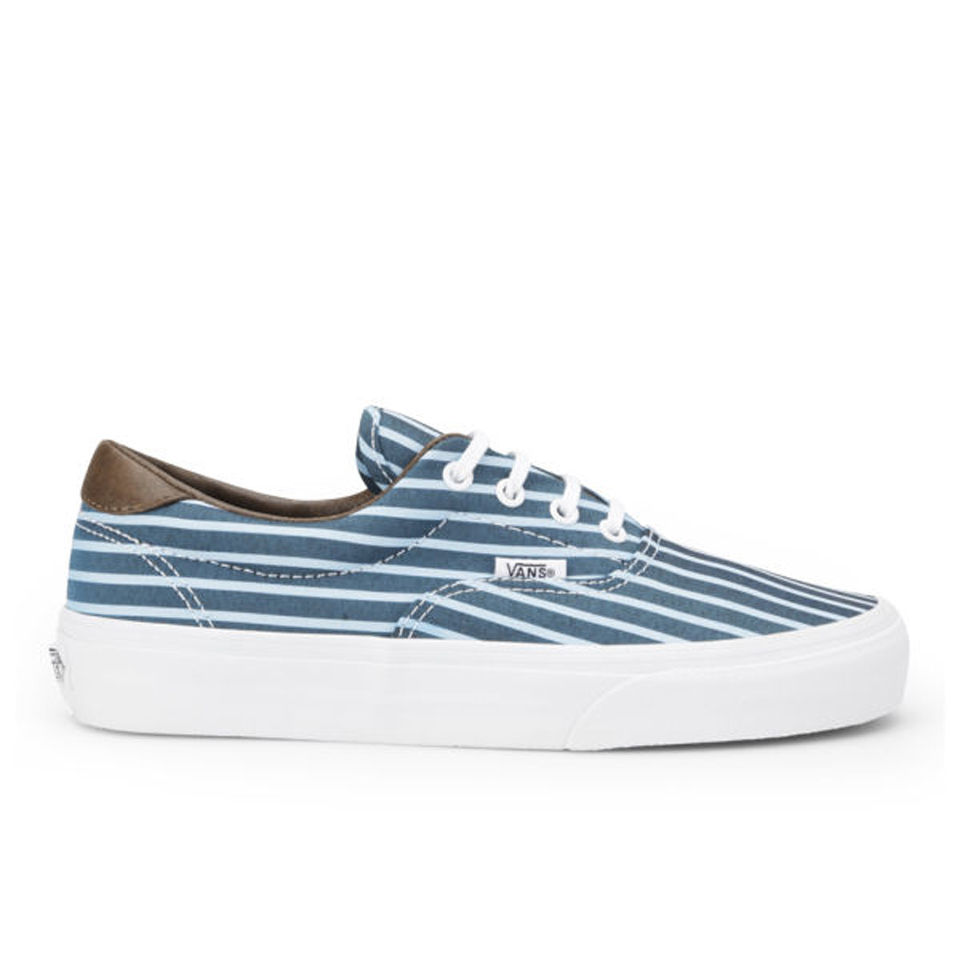 b841fffc35abcc Vans Women s Era 59 Stripes Trainers - Blue True White Womens Footwear
