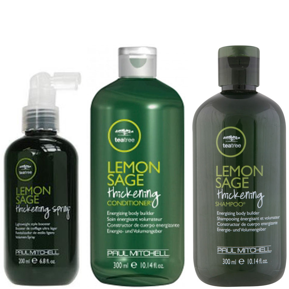 Paul Mitchell Tea Tree Lemon Sage Trio- Shampoo, Conditioner & Thickening Spray