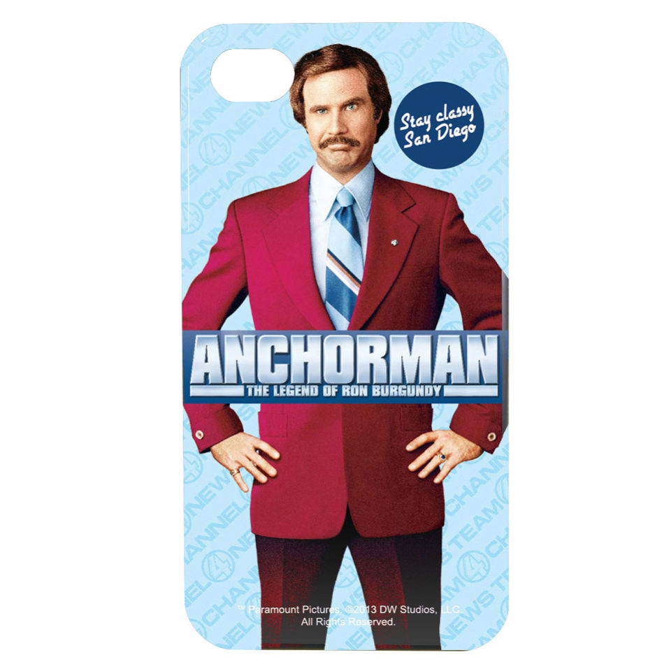 Coque iPhone 4/4S Anchorman - Ron Burgundy