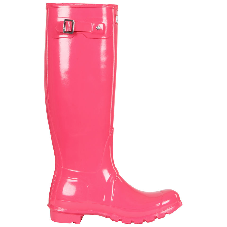 279c8e999b6 Hunter Women's Original Tall Gloss Wellies - Crimson Pink