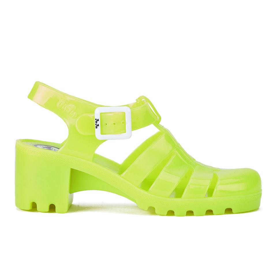 25d0fc0997d1 JuJu Women s Babe Heeled Jelly Sandals - Fluro Yellow Womens ...