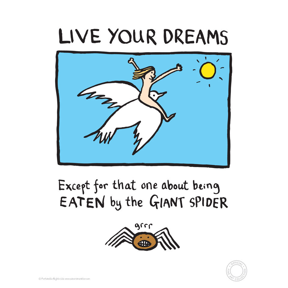 Edward Monkton Fine Art Print - Live Your Dreams