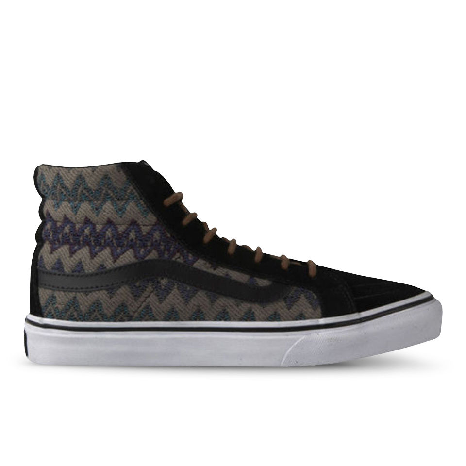 50f6560e32 Vans Women s Sk8-Hi Slim Hi-Top Trainers - (Zig Zag) Black Womens Footwear