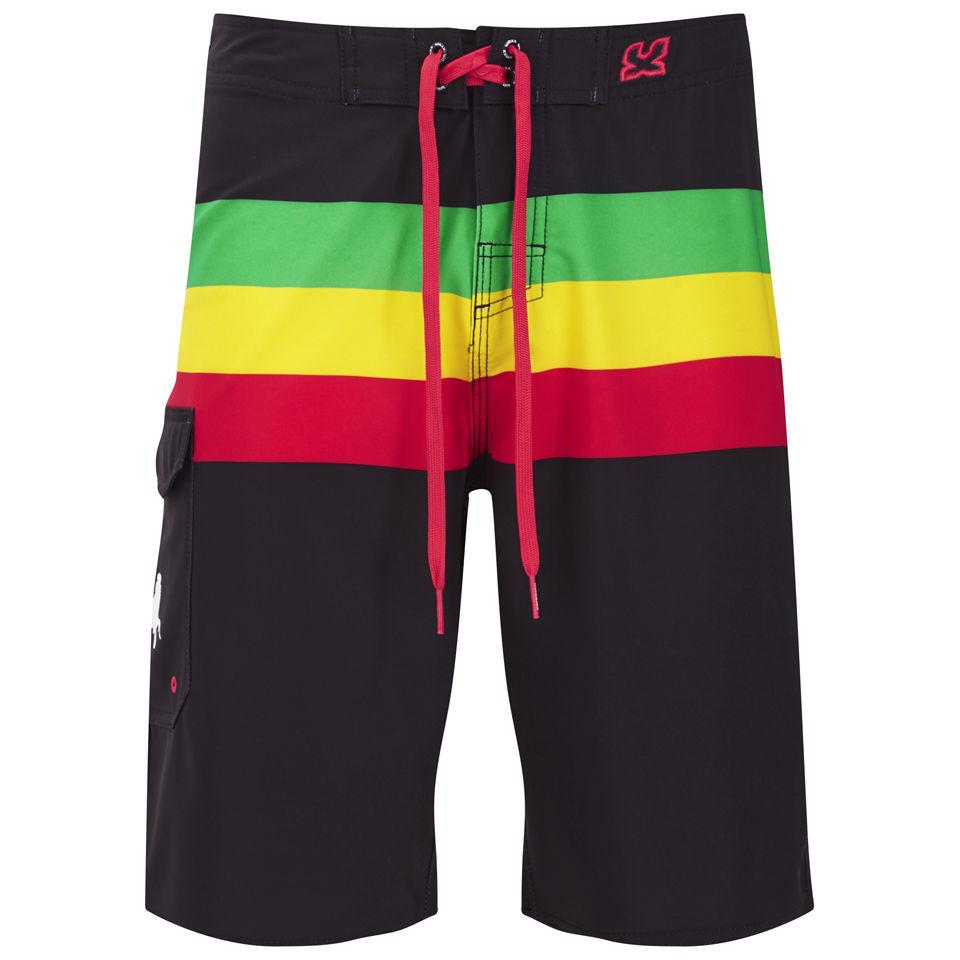 142c2e2cca WAXX Men's Jamaica Surf Swim Shorts - Black Mens Underwear | Zavvi
