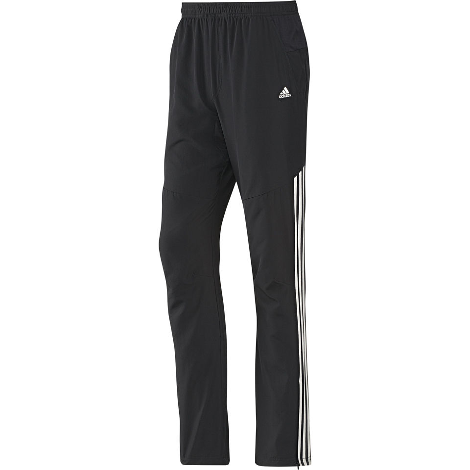 adidas Men's Classic Woven Open Hem Training Pants Black