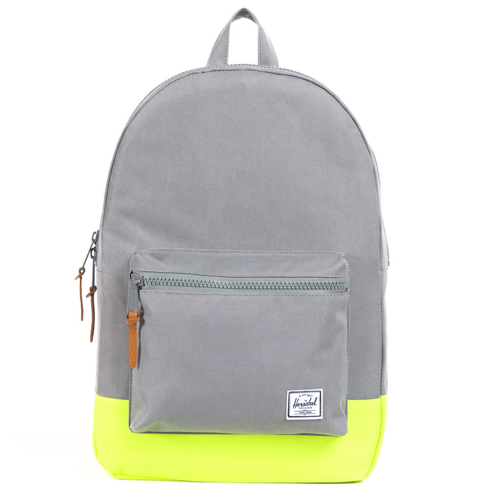 0a249029aa Herschel Supply Co. Settlement Backpack - Grey Yellow Rubber - Free UK  Delivery over £50