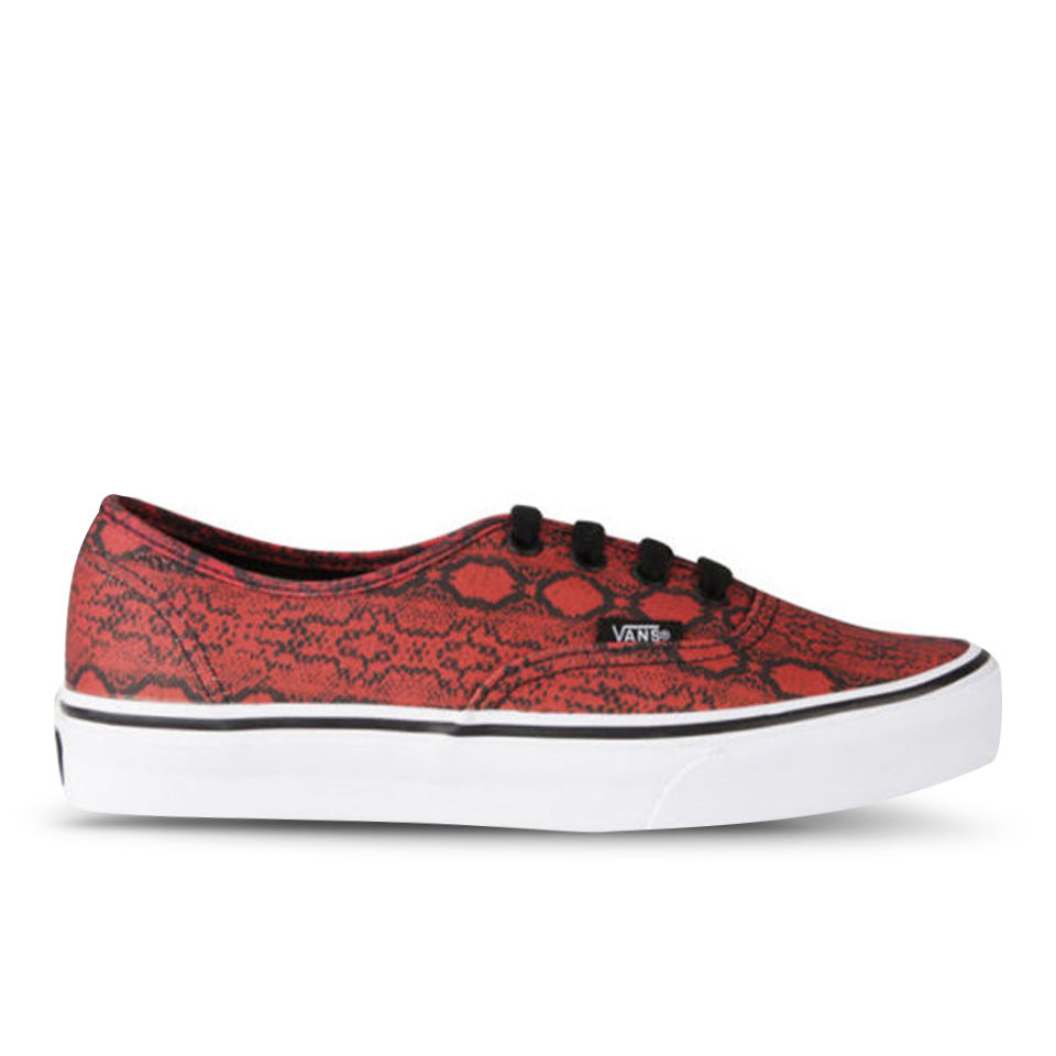 Vans Women S Authentic Snake Print Trainers True Red