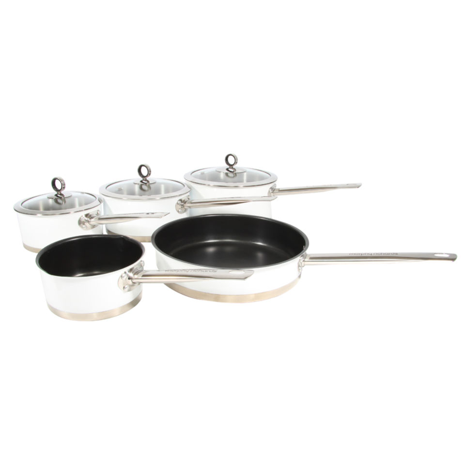 Morphy Richards 79010 5 Piece Pan Set - White